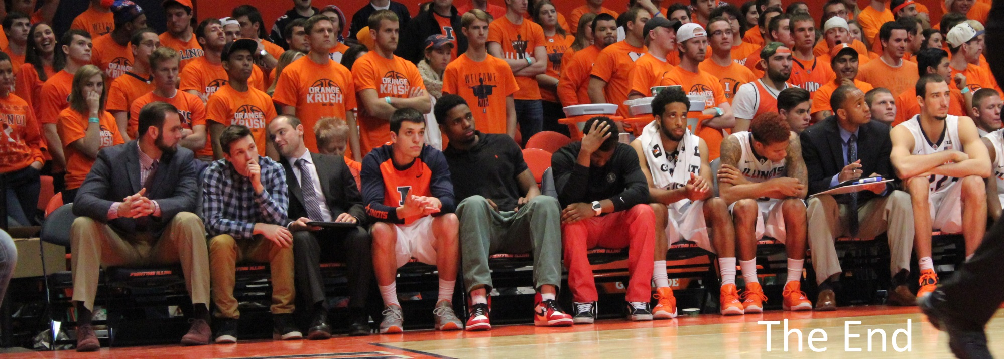 Illini bench, Mike Thorne in street clothes