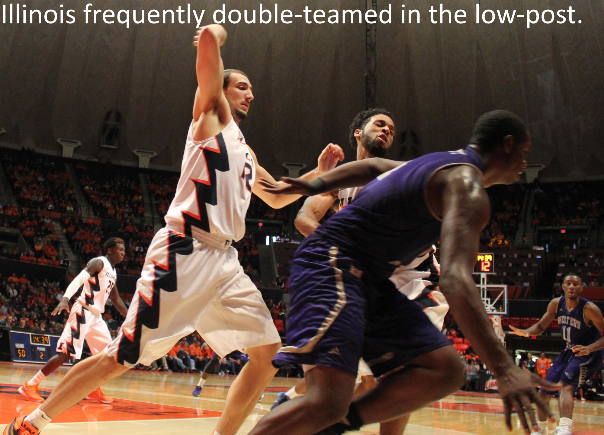 Illinois frequently double-teamed in the low-post