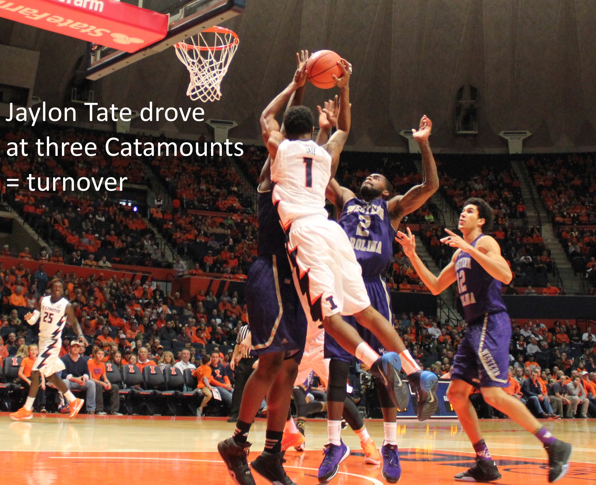 Jaylon Tate drove Catamounts turnover