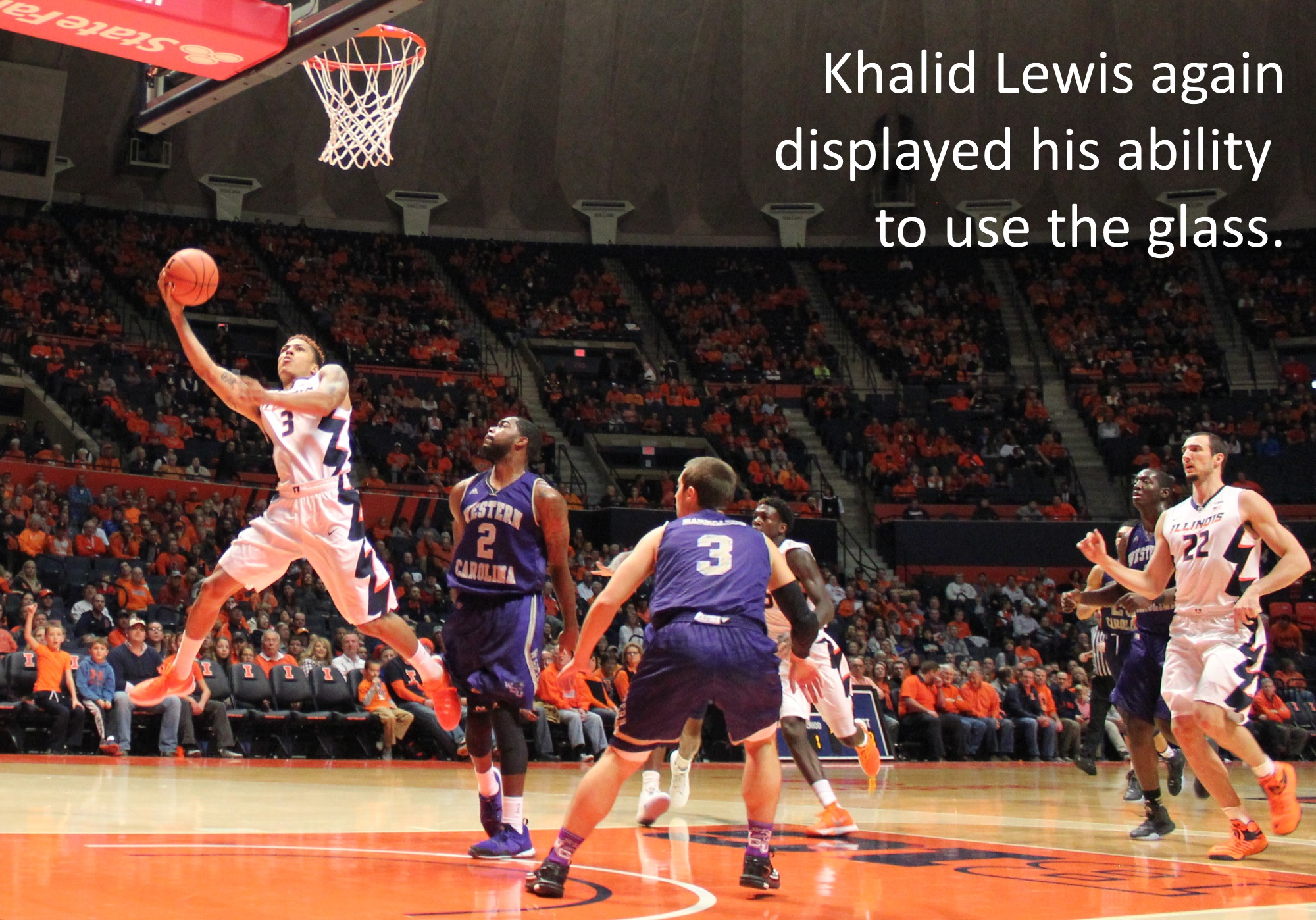Khalid Lewis used the glass