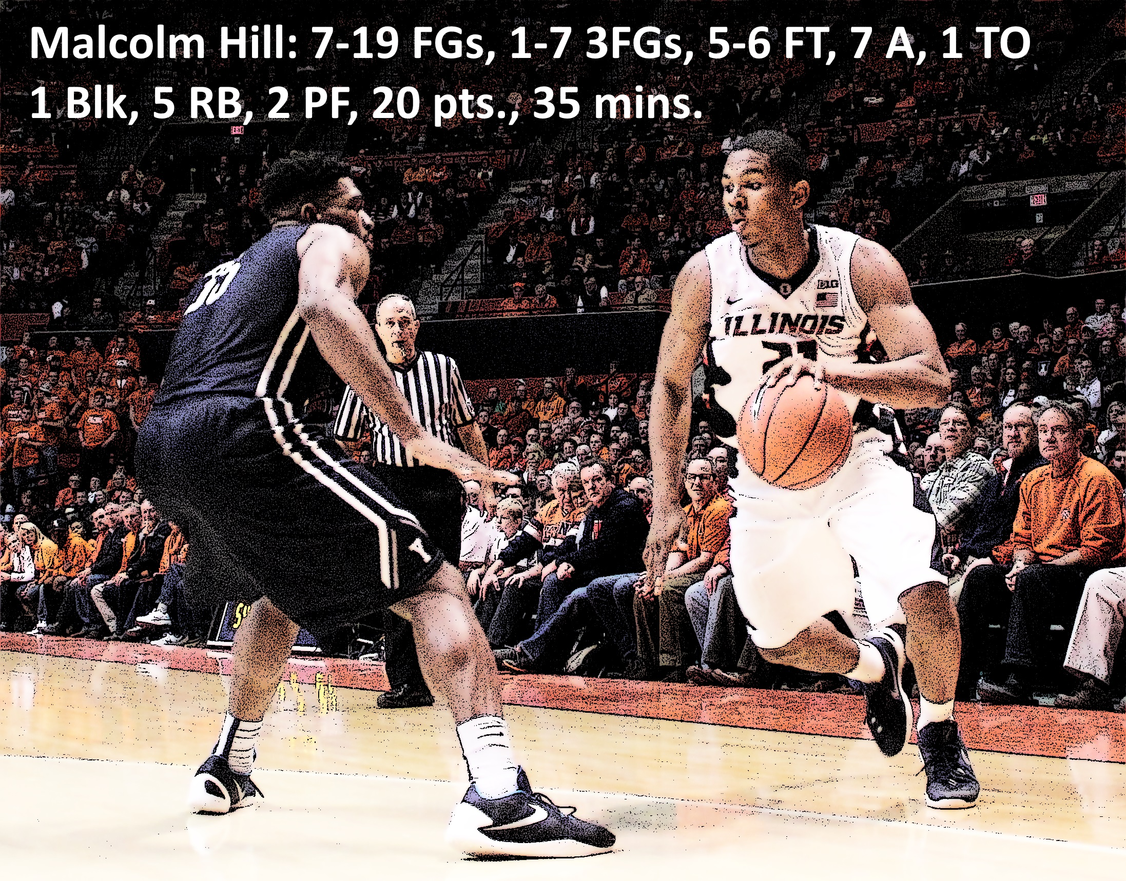 Malcolm Hill stat line Yale