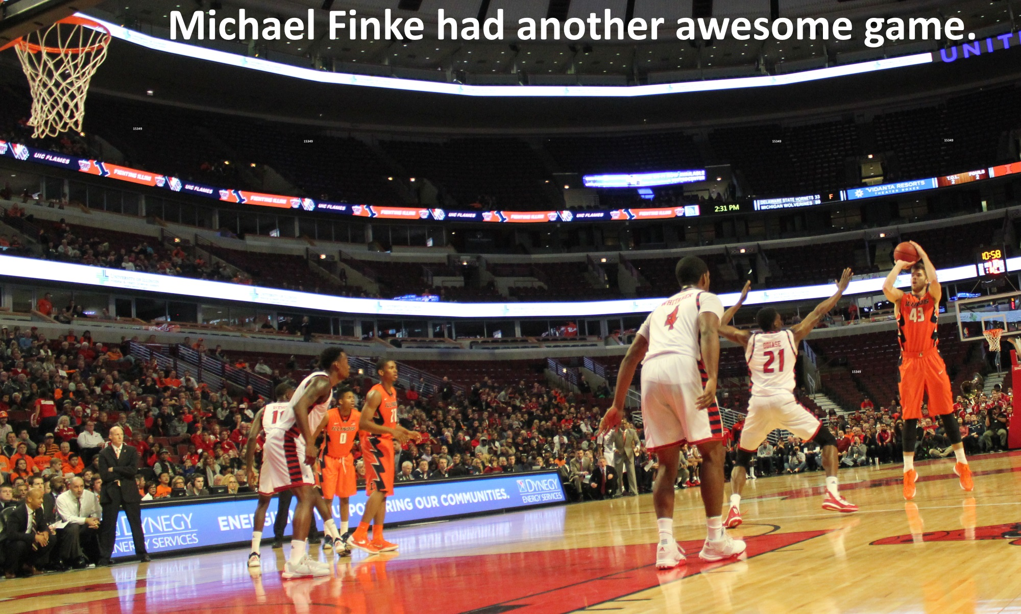 Michael Finke had another awesome game