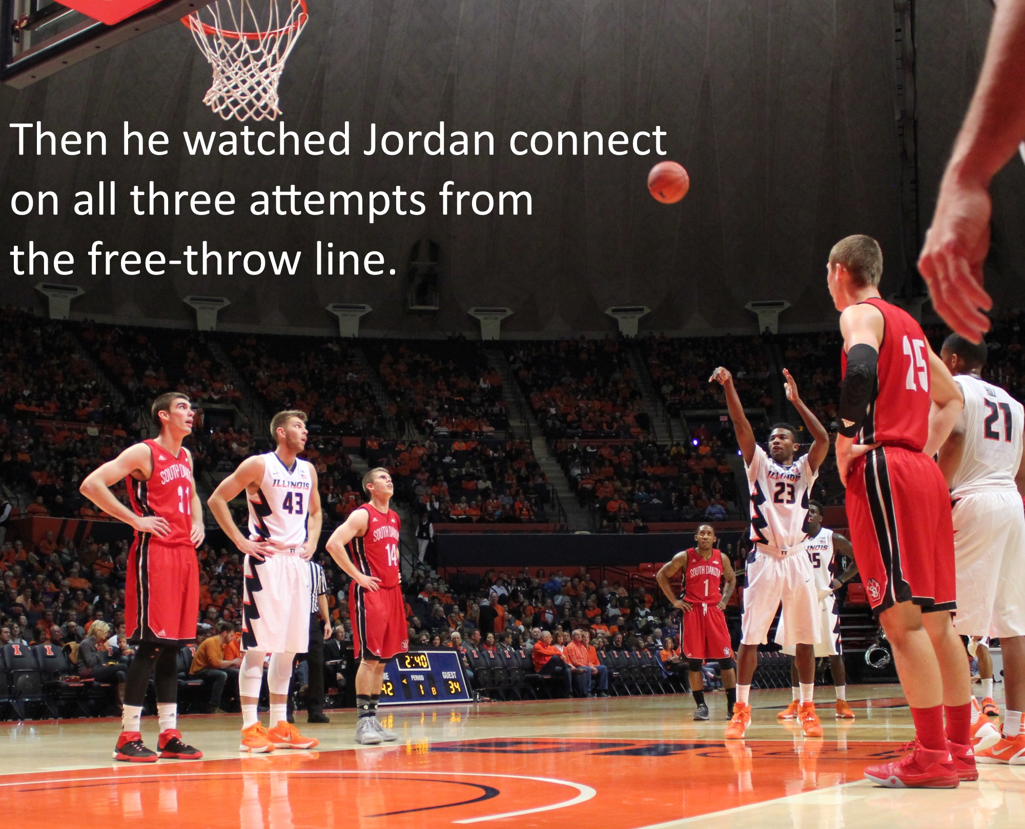 Then Hagedorn watched Aaron Jordan connect on all three attempts from the free-throw line